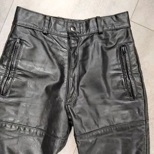 Pants - Motorcycle high rise leather pants bike size 26